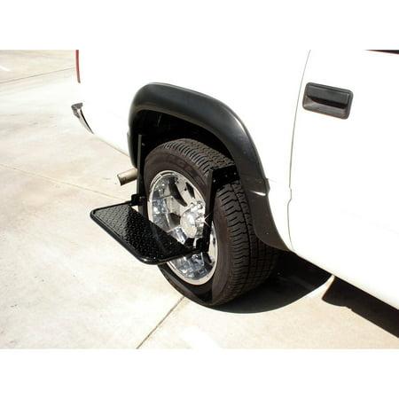 Truck Wheel Step - Stoneman Sports UL5A Sparehand Steel Adjustable Wheel Step for Trucks Vans and SUVs, Black Finish