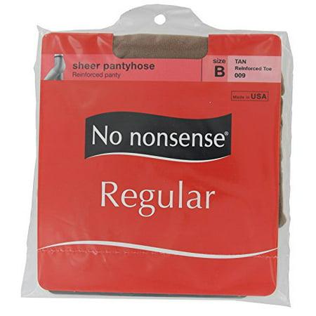 bae0a0862f505 No Nonsense - No Nonsense Women's Reinforced Toe Pantyhose, Tan, B (Pack of  6) - Walmart.com