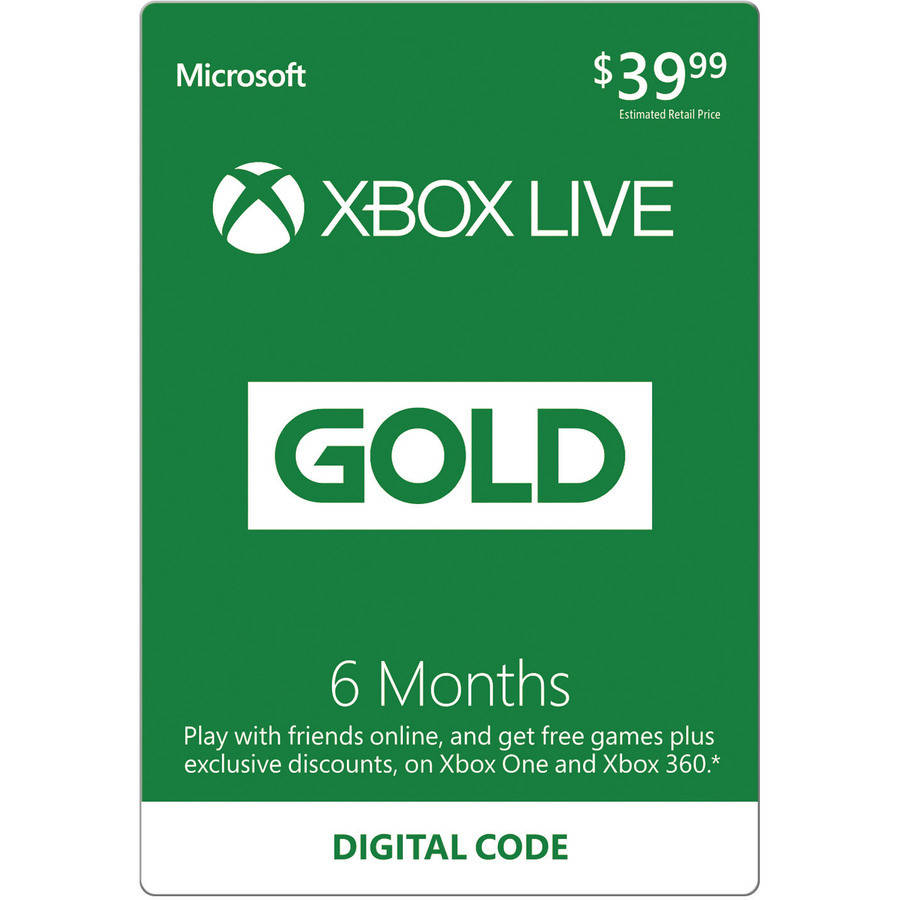 Xbox Live Gold 6-Month Subscription (Email Delivery)