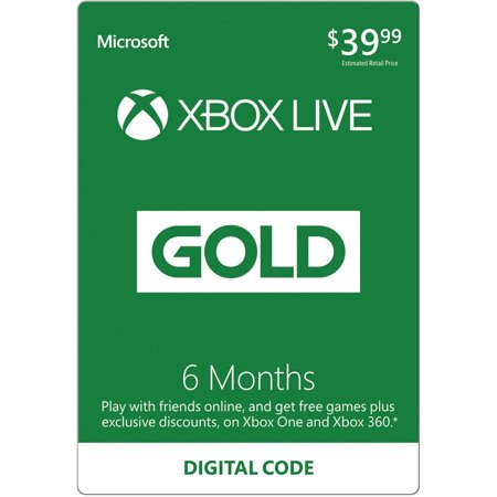 Xbox Live Gold 6 Month Subscription  Email Delivery