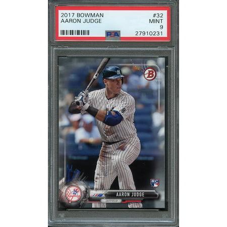 2017 bowman #32 AARON JUDGE new york yankees rookie card PSA 9 2004 Bowman Baseball Rookie Card