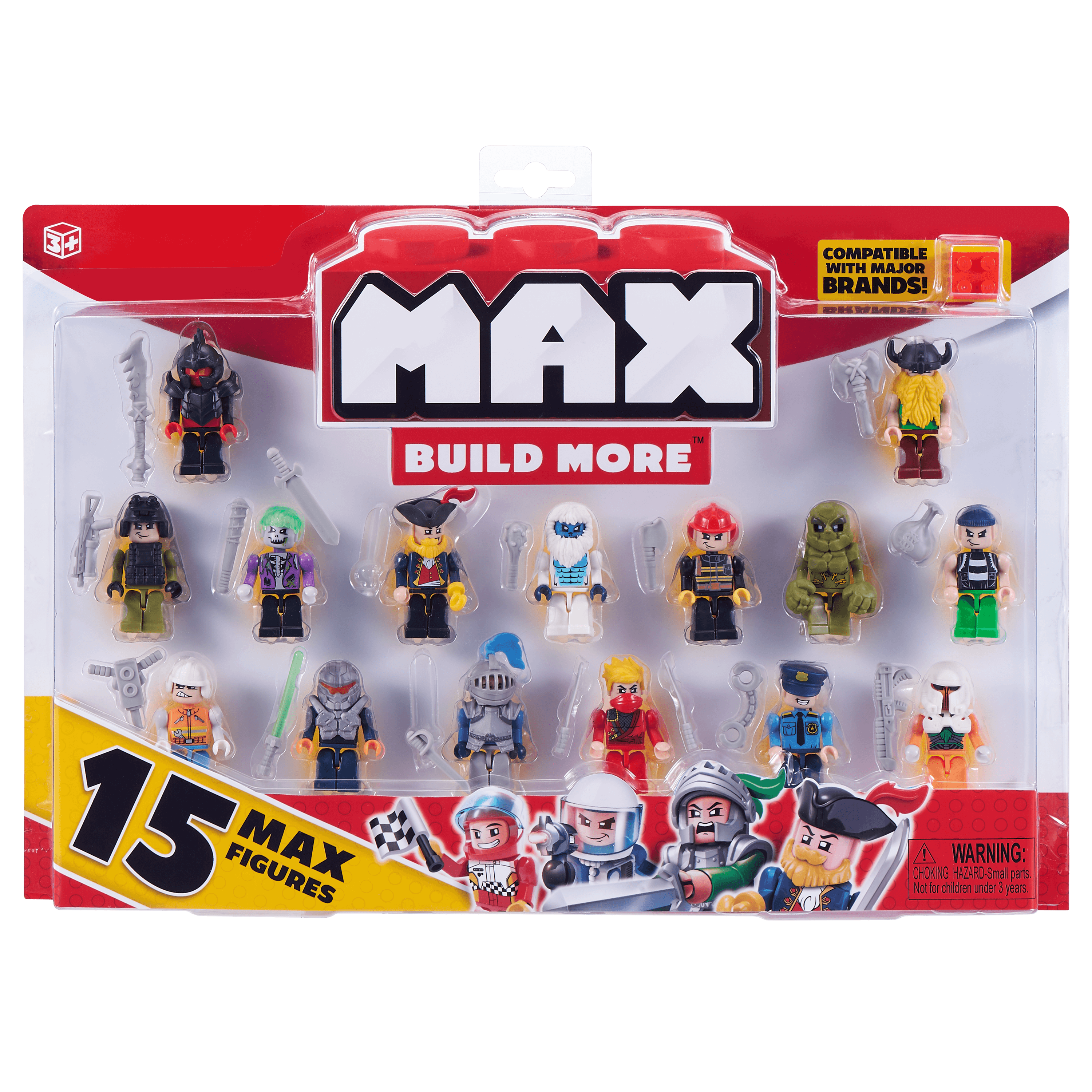 Max build more mini figure set (15 figures) - major brick brands compatible