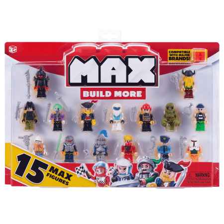 Max build more mini figure set (15 figures) - major brick brands compatible