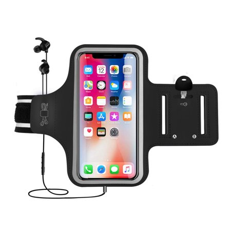 Arm Band, EEEKit Universal Sports Fitness Armband Phone Case Pouch with Reflective Strip & Key Holder for iPhone Xs Max X 8 7, Galaxy S10 S10 Plus S10E S9 S8 S7 Edge - Running, Gym, Outdoor, Workout (Set It Off Band Phone Case)