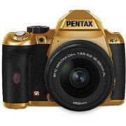 Refurbished Pentax K-r 12.4MP DSLR Camera Bundle w/ 18-55mm Lens, 3 LCD, and HD Video, Gold