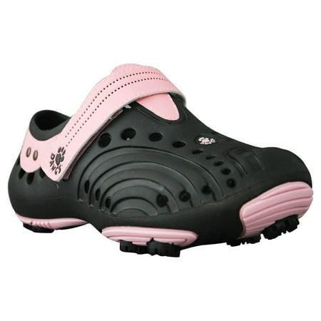 USA Dawgs WGS3723 DAWGS Womens Golf Spirit - Black-Soft Pink - Size 7