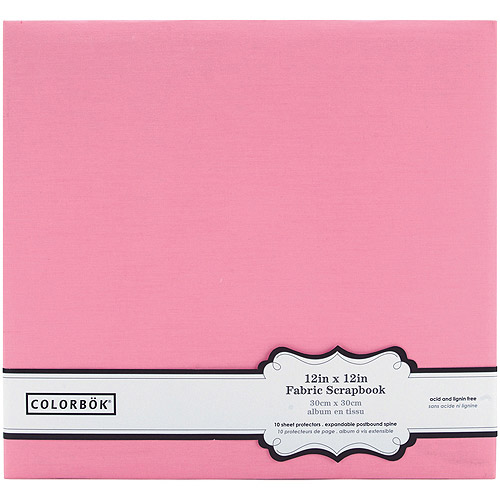 "Colorbok Fabric Post Bound Album, 12"" x 12"""