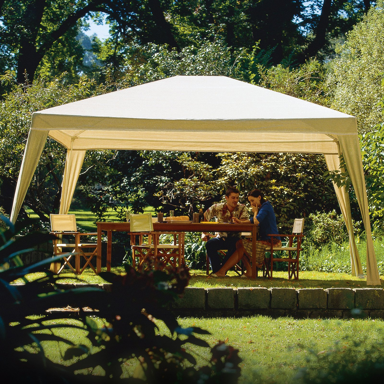 Coolaroo Rectangle Isabella Gazebo, 12' x 10', Camel by Gale Pacific USA Inc