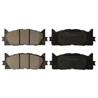 Premium Ceramic Disc Brake Pad FRONT Set + Shims KFE QuietAdvanced Fits 2007-2017 Toyota Camry, 2008-2017 Avalon, 2007-2018 Lexus ES350, 2013-2018 ES300h - KFE1222-104