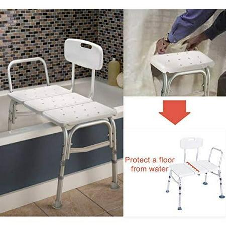 Ktaxon Bath Chair Plastic Tub Transfer Bench with Adjustable Backrest