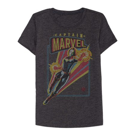 Captain Marvel Power Graphic Tee (Little Girls & Big Girls) - Captain America Girls