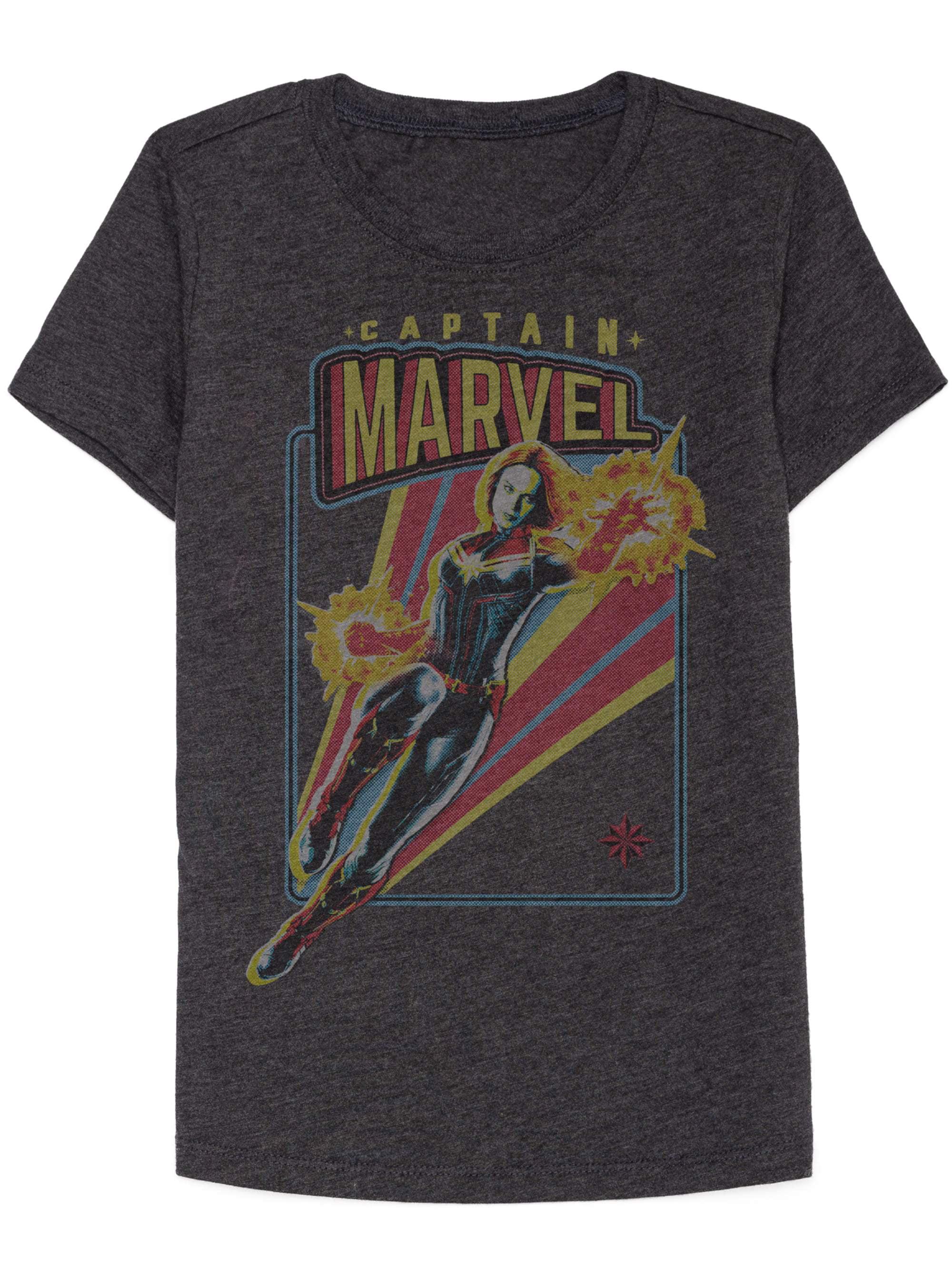 Captain Marvel Power Graphic Tee (Little Girls & Big Girls)