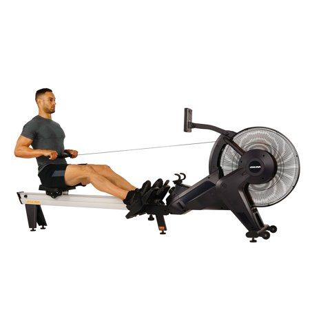 Asuna Ventus Rowing Machine with Air and Magnetic Resistance, High Weight Capacity, Performance Monitor and Aluminum Slide Rail