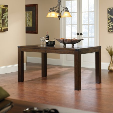 Mahogany Center Table - Sauder Carson Forge Dining Table, Mahogany Finish