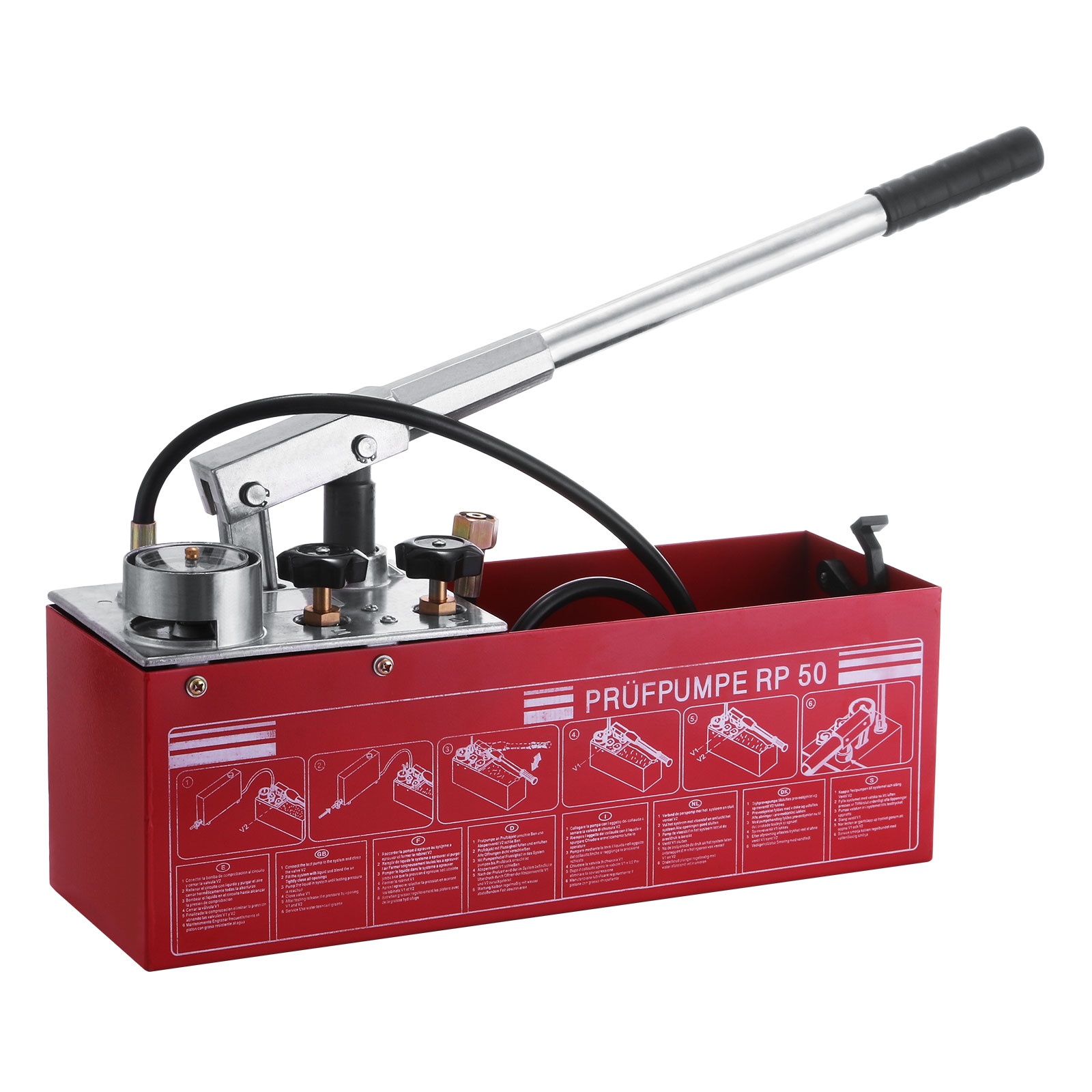 VEVOR Test Pump 50 Bar 726 PSI Manual Test Pump 3 Gallon ...