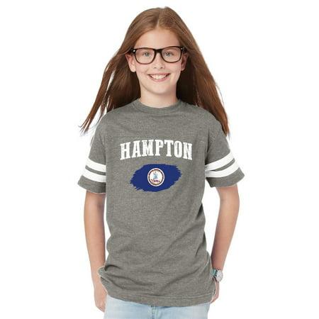 Hampton Virginia Youth Football Fine Jersey Tee