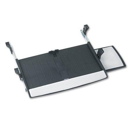 - Fellowes Deluxe Keyboard Drawer, 20-1/2w x 11-1/8d, Black