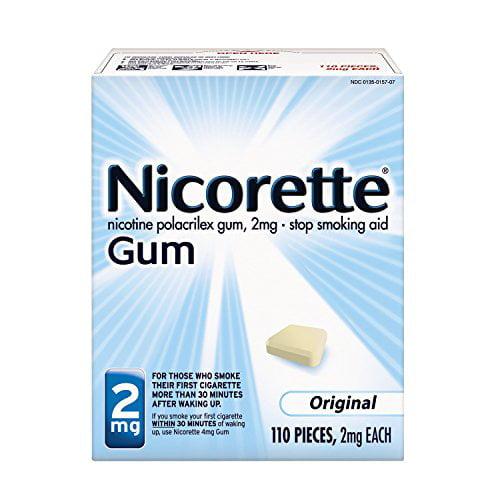 4 Pack - Nicorette Nicotine Gum Original 2 milligram 110 count Each