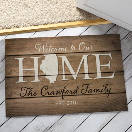 Personalized Home State Doormat - All 50 States Available for $<!---->