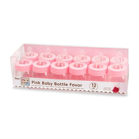 Baby Shower Favor - Baby Bottle - Pink - 3 inches - 12 pieces - Outside Baby Shower Ideas