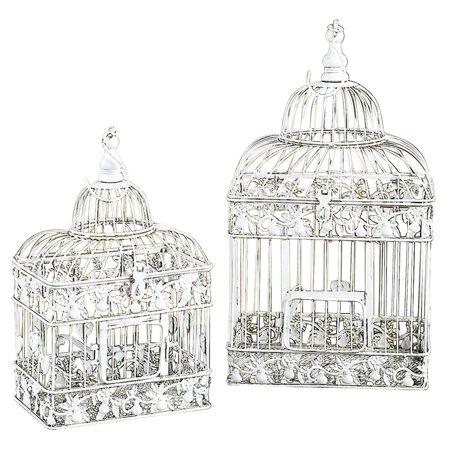Metal Bird Cage Set Of 2 Parakeet Birds Cages