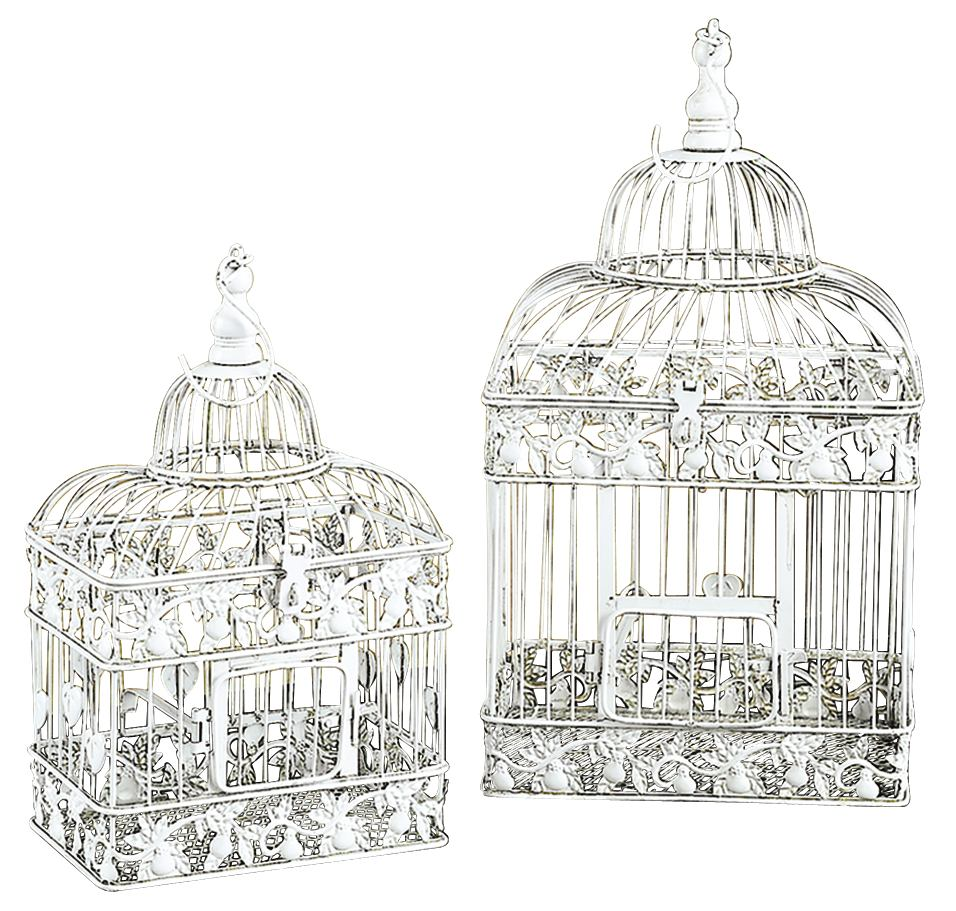 Metal Bird Cage Set Of 2 Parakeet Birds Cages
