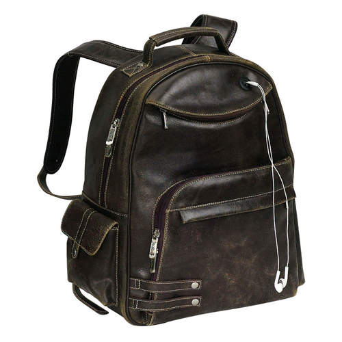 THE DISTRESSED LEATHER COMPUTER BACKPACK REBEL (BELLINO)