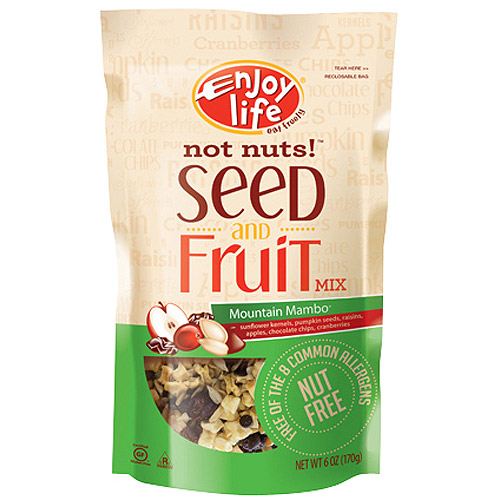 Enjoy Life Mountain Mambo(R) Not Nuts!(TM) Seed & Fruit Mix 6 oz (Pack of 6)