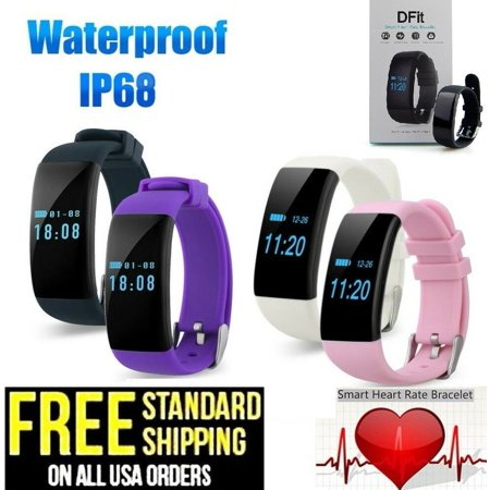 DFit D21 Wristband Heart Rate Smart Watch Health Fitness Tracker for Android IOS DFit D21 Wristband Heart Rate Smart Watch Health Fitness Tracker for Android IOSDFit D21 Fitness Tracker HR, Activity Tracker Watch with Heart Rate Monitor,IP68 Waterproof Smart Fitness Band with Step Counter, Calorie Counter, Pedometer Watch for Kids Women and Men Specifications: Chipset:NRF51822Sensor:Triaxial Gravity SensorHardware Parameter:Single coreSoftware Parameter:OSALIOS:Android4.4 or higher,iOS 7.0 or higherLCD:0.66 OLEDLCD Pixels:0.66  64*48BT Version:4.0BT Connection Distance:8-12mCapacity:80mAhStandby Time:7 daysCharging Type:Touching Point Charging(Clip Charger)Average Standby Current:Less than 40uAWorking Voltage:3.7VDimension:23.7*12.2*164~232mmColors:Black,Pink,White,PurpleMaterial:Main Body(PC) watchband(silica gel)Waterproof Grade:IP66Gravity Sensor to detect movement and sleep quality Light-sensitive version of the real-time monitoring of heart rate, sports scienceSee call notifications, daily stats and time of day on the OLED displaySyncs via Bluetooth with iOS and Android. Light Weight;Touch designLight Weight, easy to operate ,Waterproof IP66, 0.66 inch OLED screen for information watchingMonitor your activity levels, track walking distance and calculate calories burned. Achieve the daily exercise targets you set and work towards a healthier lifestyle!