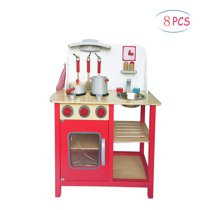 Clearance! Play Kitchen Accessories, Toddler Wooden Playset, Kids Kitchen  Playsets, Kitchen Toy Cooking Pretend Play Set, Kitchen Playset w/ 8 Piece  ...