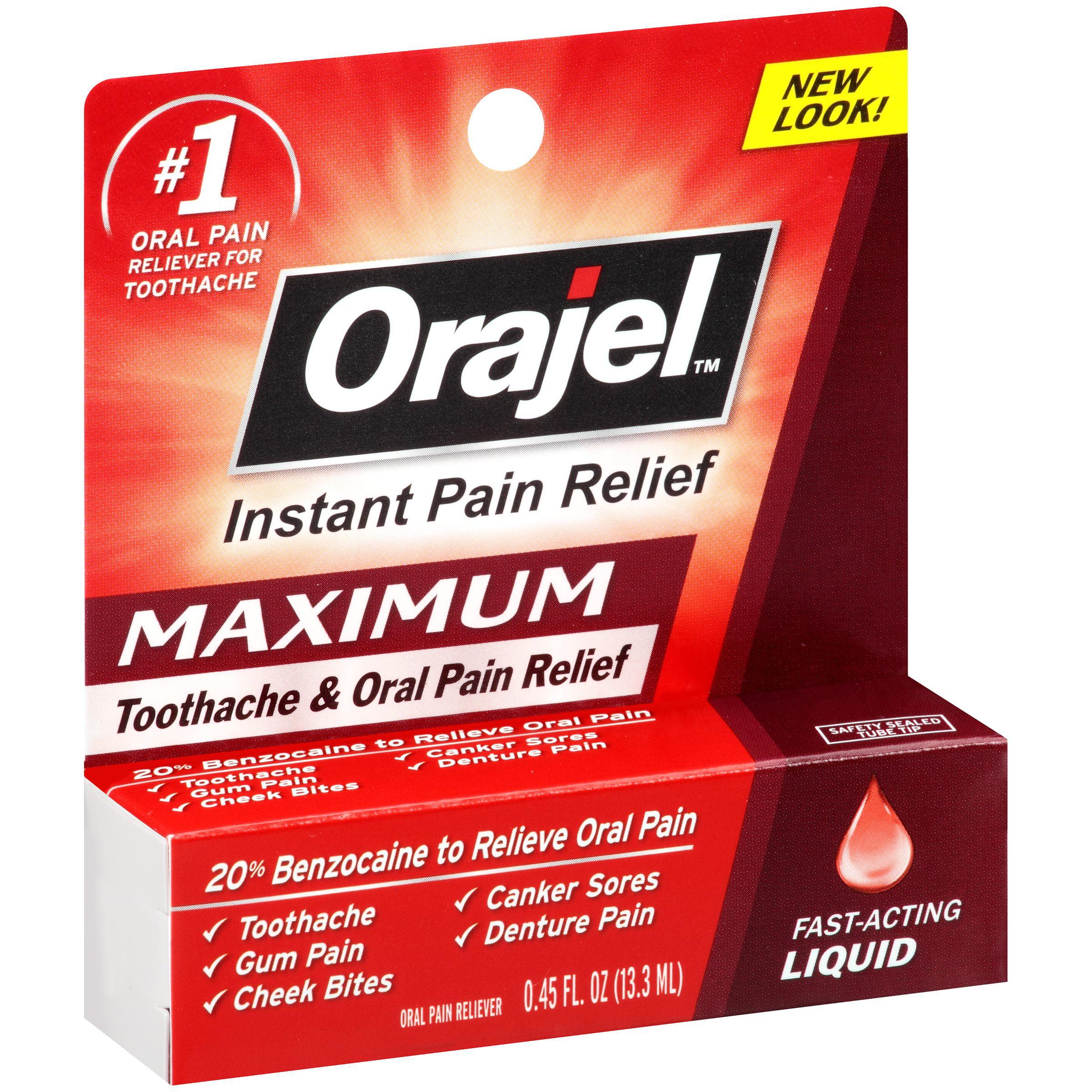 Orajel™ Maximum Toothache & Oral Pain Relief Liquid 0.45 ...
