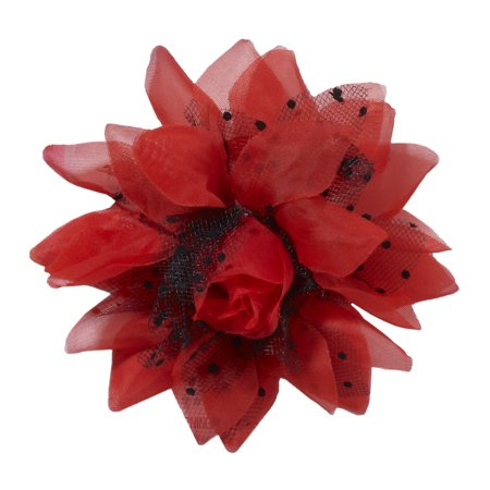 50'S Retro Rock Pin Up Pinup Red Flower Hair Clip Hairpiece Costume Accessory