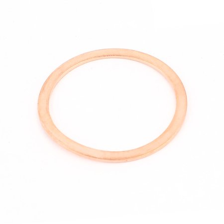 Uxcell 34mmx42mmx1.5mm Industry Copper Flat Washer Gaskets Ring Seal Fitting Fasteners (1-pack)