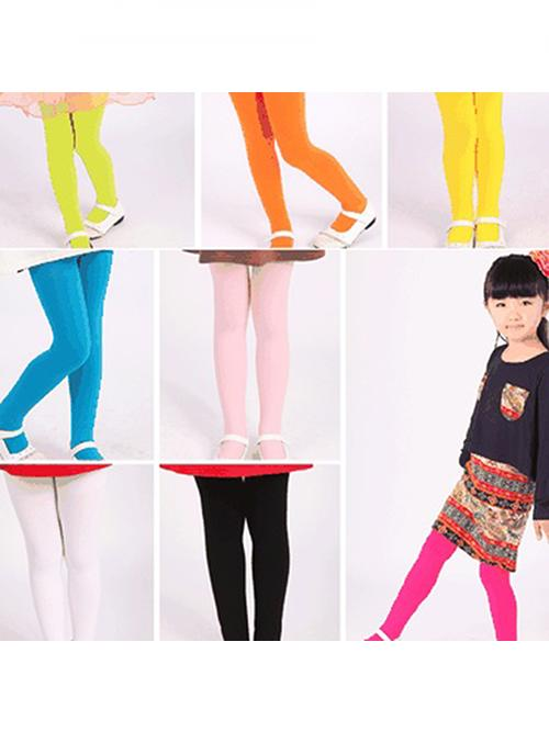 Girl12Queen Toddler Kid Girl Solid Color Ballet Dance Stretch Opaque Pantyhose Footed Tights