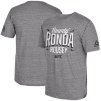 Ronda Rousey UFC 207 Reebok Stacked T-Shirt - Gray