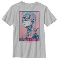 Marvel Boys' Captain Marvel Kree Poster T-Shirt