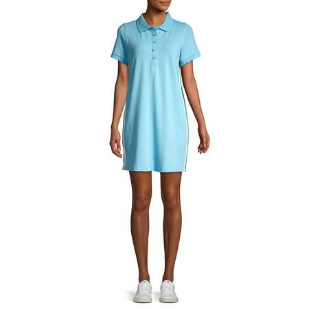 Side-Stripe Polo Dress