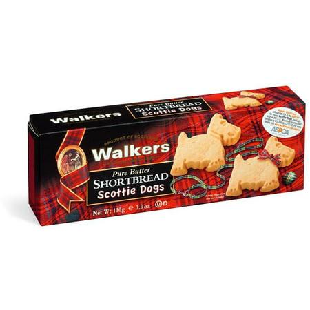 Walkers Shortbread Carton, Scottie Dogs, 3.9oz
