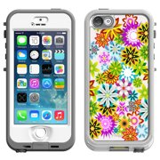 SKIN DECAL FOR LifeProof Nuud Apple iPhone SE Case - Spring Garden on White DECAL, NOT A CASE