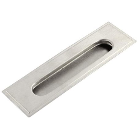 Stainless Steel Rectangular Drawer Door Flush Recessed Pull Handle 140mmx40mm ()