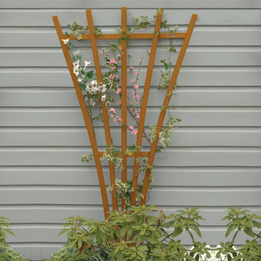 Highwood Eco-Friendly Hartford Fan Trellis, Toffee