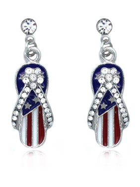 20ccb5268 Product Image cocojewelry 4th of July USA American Flag Flip Flop Sandal  Post Dangle Earrings. Product TitleCoco Jewelrycocojewelry ...