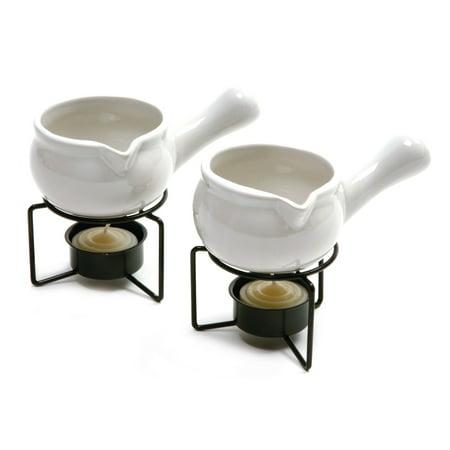 Ceramic Butter Warmers Set (Norpro White Ceramic Butter)