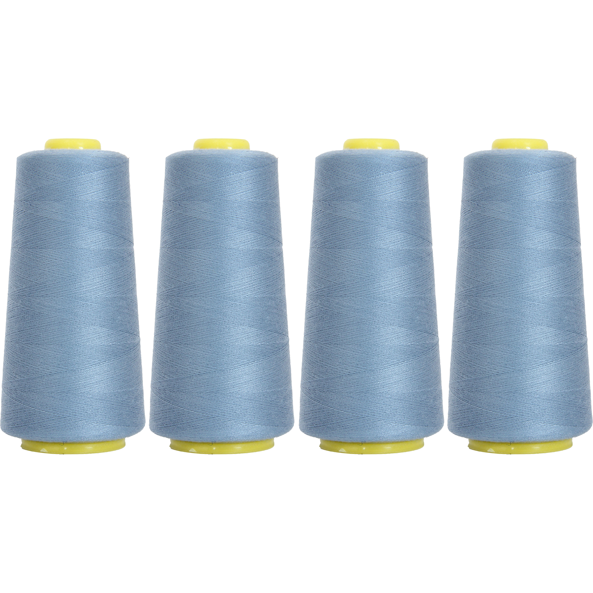 Threadart Polyester Serger Thread - 2750 yds 40/2 - Rose Jubilee - 56 Colors - 4 Cone Bundle Pack