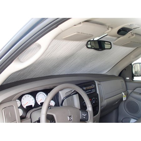 The Original Auto Sunshade, Custom-Fit for Dodge Ram 2500 Truck (Crew Cab) 2003, 2004, 2005, 2006, 2007, 2008, Silver