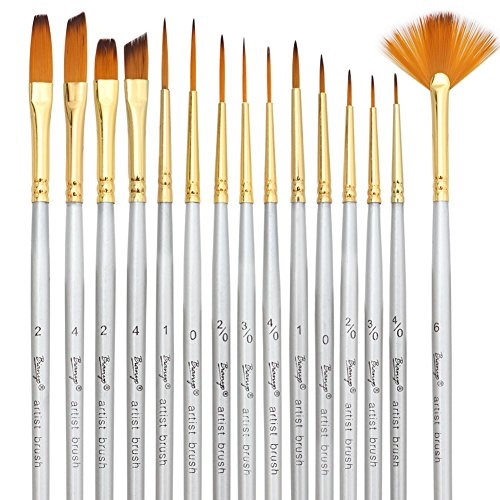 Painting Supplies for Watercolor Acrylics Models Oil 5 Pieces Miniature Brushes Professional Detail Paint Brush Detail Paint Brushes Set