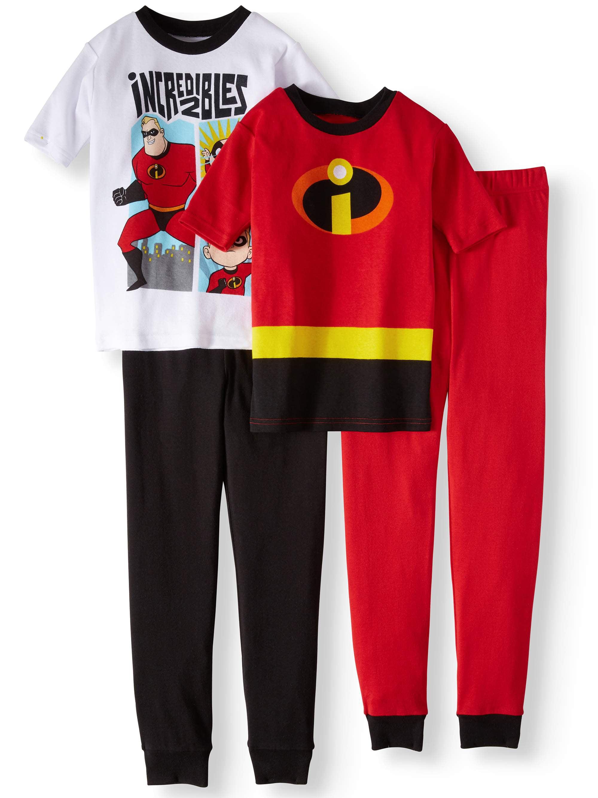 Boys' Incredibles 4-Piece Pajama Sleep Set