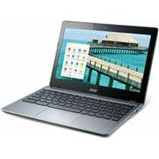 "Acer Chromebook C720-2844, 1.40 GHz Intel Celeron, 4GB DDR3 RAM, 16GB SSD Hard Drive, Chrome, 11"" Screen (Refurbished Grade B)"