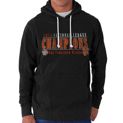 San Francisco Giants '47 2014 National League Champions Slugger Pullover Hoodie - Black