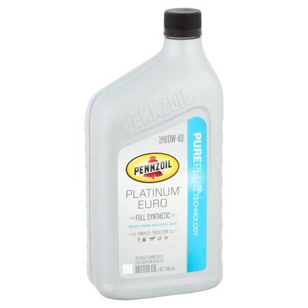 Pennzoil platinum euro 0w 40 motor oil 1 qt for Pennzoil ultra platinum 0w 40 motor oil